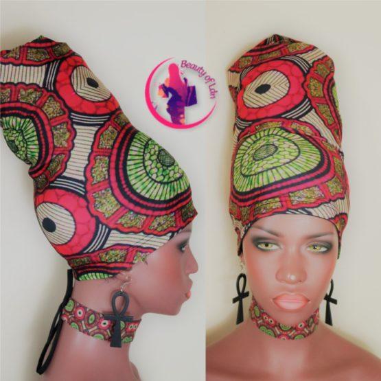 African Print Head Accessories