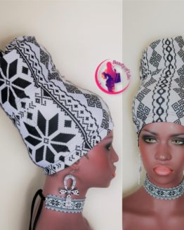 African Print Head Accessories